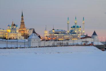 Казанский кремль зимой